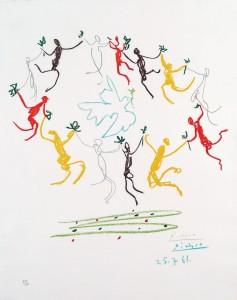 פיקאסו - מעגל הנעורים 1961 ליטוגרפיה